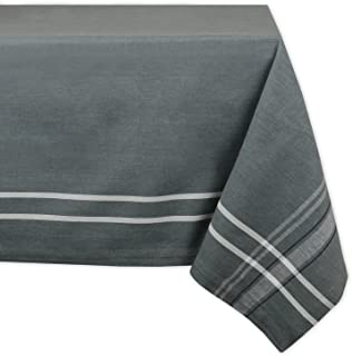 DII 100% Cotton, Machine Washable, Everyday French Stripe Kitchen Tablecloth For Dinner Parties, Summer & Outdoor Picnics - 60x120