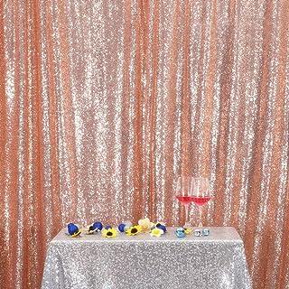 PartyDelight Pailletten Hintergrund in Rotgold, 2,4 x 2,4 m