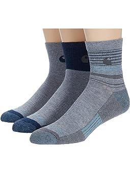 Carhartt Force Merino Wool Quarter Socks 3-Pack