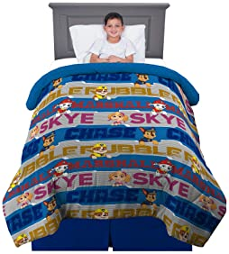 "Franco Kids Bedding Super Soft Reversible Comforter, Twin/Full Size 72"" x 86"", Paw Patrol"