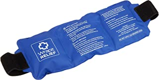 Wrapit Relief - Large Gel Ice Pack with Strap| Hot/Cold Pain Relief for Knee, Back, Ankle, Neck and Shoulder| Freezable & Microwavable Soothing Recovery Packs for Sports
