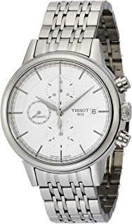 Carson Silver Dial Stainless Steel Chronograph Men's T0854271101100