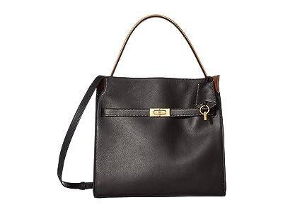 Tory Burch Lee Radziwill Double Bag (Black) Handbags