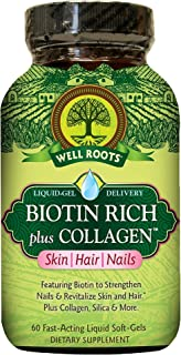 Well RootWell Roots Biotin Rich plus Collagen Skin Hair Nails