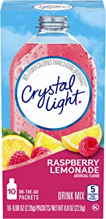 Crystal Light Raspberry Lemonade Drink Mix, Pack of 6