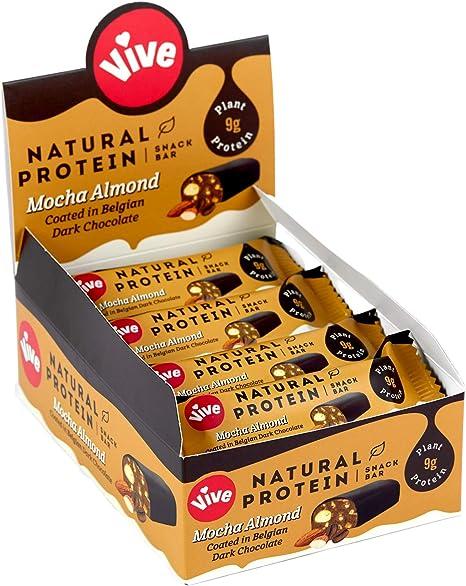 Vive Barra natural vegana alta en proteínas, alta proteína ...
