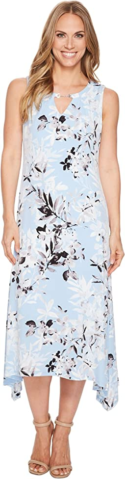 Calvin Klein Crew Neck Printed Maxi Dress