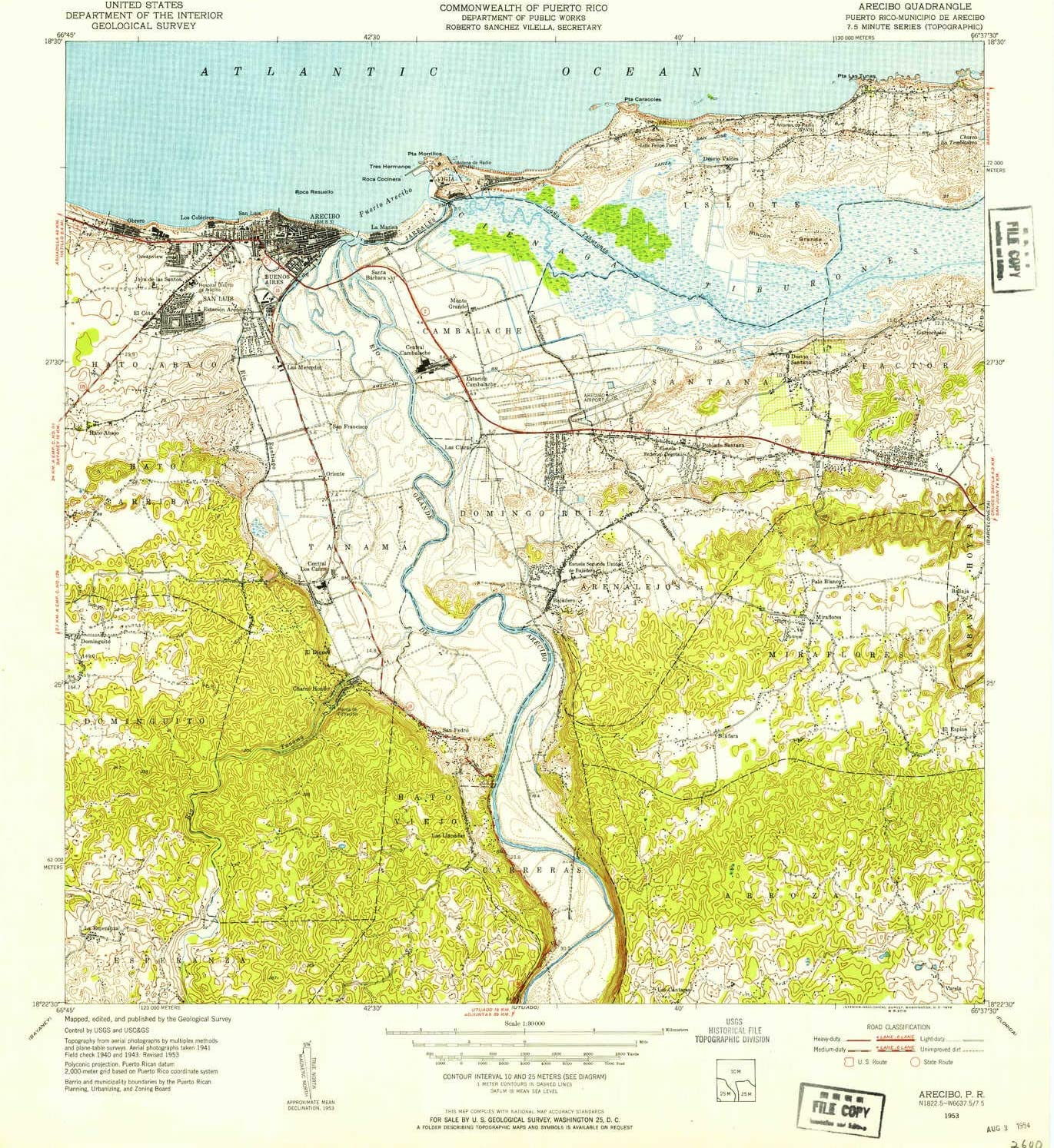 YellowMaps Arecibo Louisville-Jefferson County Mall Ranking TOP18 PR topo map X Scale 1:30000 7.5 Minute