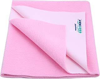 Cozymat Dry Sheet Waterproof Breathable Bed Protector (Size: 70cm X 50cm) Pink, Small