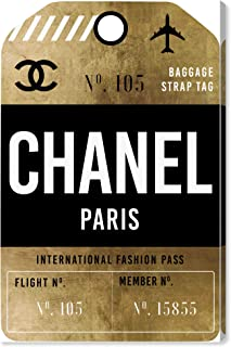 The Oliver Gal Artist Co. Fashion and Glam Wall Art Canvas Prints `Fashion Pass Luggage Tag`