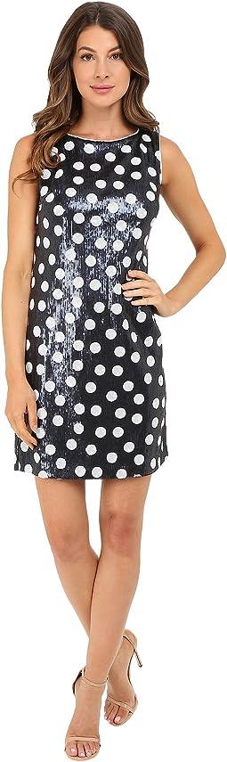Matte Sequin Dot Dress