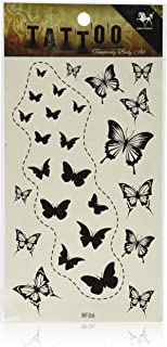 SPESTYLE waterproof non-toxic temporary tattoo stickersnew design black butterflies temporary temporary tattoos