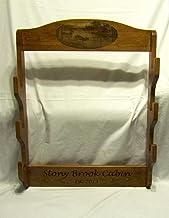 Personalized Wooden Wall Gun Rack - Custom Engraved