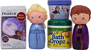 Centric Beauty Ultimate Frozen 2 Bath Fun Set with Bath Dropz Body Wash Bath Bomb and Whipped Soap
