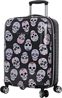 luggage with skull design