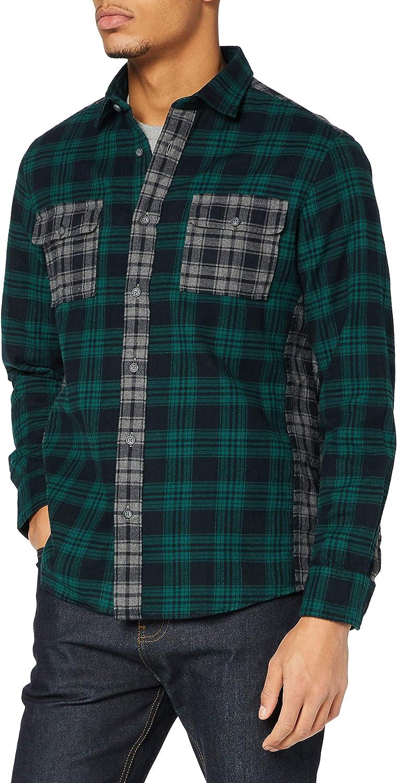 Marca Amazon - find. Camisa Casual de Cuadros Hombre