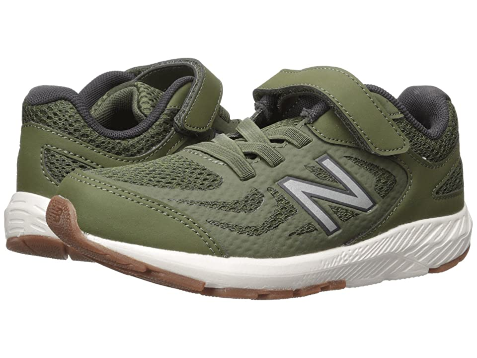New Balance Kids KV519v1Y (Little Kid/Big Kid) (Dark Covert Green/Phantom) Boys Shoes