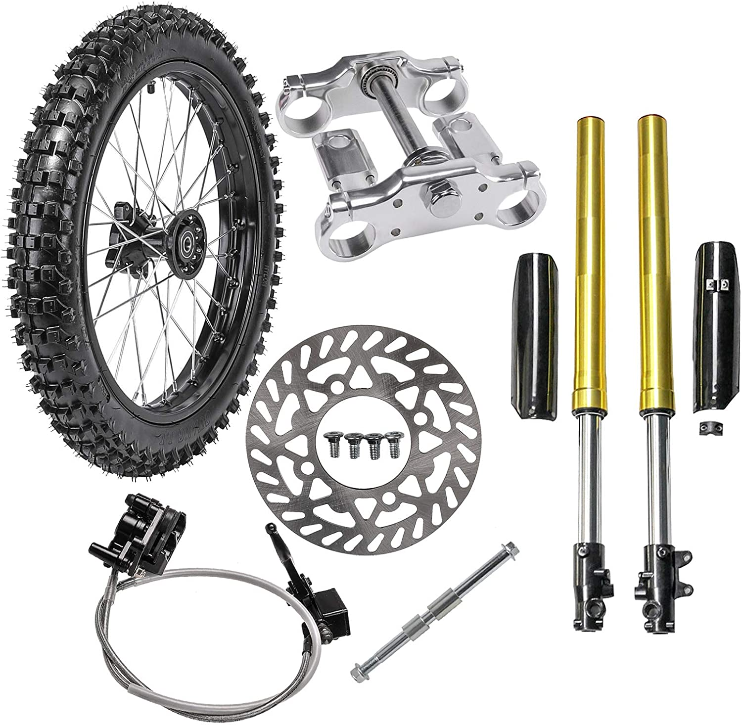 WPHMOTO 70 100-17 Finally resale start Front Wheel Tire Rim With Max 46% OFF 15mm Brake Bearing
