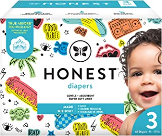The Honest Company The Honest Company Club Box Diapers With Trueabsorb Technology, Good Vibes Only, Size 3, 68 Count