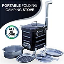 Camping Stove – Portable Outdoor Wood Burning Folding Camp Stove for Camping, Hiking,..