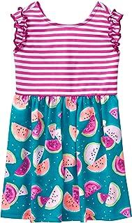 Gymboree Girls' Toddler Two-Tone Printed Knit Dress