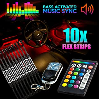 18 Color 10pcs RGB Motorcycle ATV Flexible Strip LED Light Lamp NEON Remote Kit for Can-Am Spyder Roadster RS RT Phantom