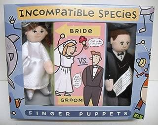 Incompatible Species Bride Vs. Groom Finger Puppets