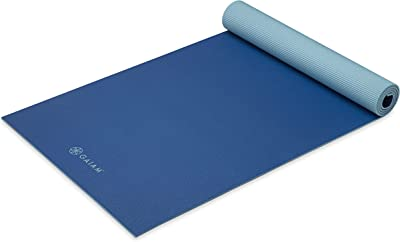 Gaiam Yoga Mat – 6mm Extra Thick Non Slip Exercise Workout Mat for Women and Men – Ideal for Home Gym Fitness, Yoga, Pilates, and Stretching – Grip Texture and Moisture Resistant
