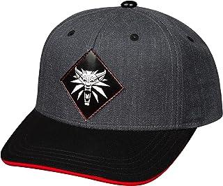 JINX Witcher Snapback Cap Monster Slays Wolf Medallón Gris Negro