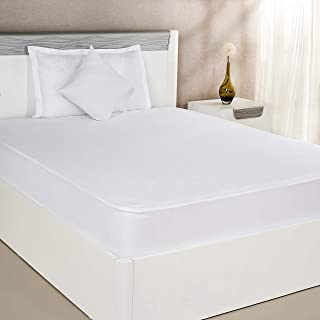 Amazon Brand - Solimo Water Resistant Anti-Bacterial Mattress Protector, White, Single, 75x36 inch (190 x 91 cm)