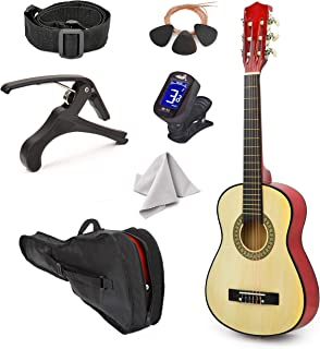 """Best Left Handed Natural Wood Guitar with Case and Accessories for Boys Girls Teens Beginner 38"""" (Natural) Review"""