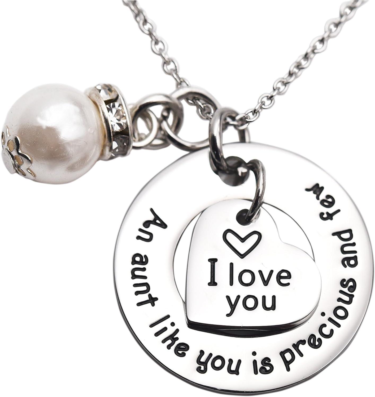 Aunt necklace  Aunt charm necklace  Aunt jewelry  Aunt Gift  Best Aunt gift  Diamond Cut Aunt Necklace