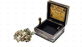 Navigtion Instrument Nautical Sextant with Hardwood Box C-1679 J. Scott London Brass Antique Finish Vintage Look for Mariners, Surveyors etc,
