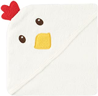 Luvable Friends Animal Face Hooded Towel, Chicken