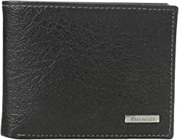 Buff Crunch Leather Passcase Wallet