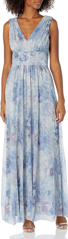 Jessica shop Howard Women's Sleeveless Shirred cheap Neck Waist Inset Gow V