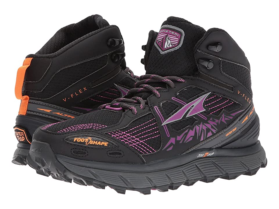 Altra Footwear Lone Peak 3.5 Mid Mesh (Purple/Orange) Women