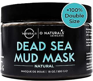 O Naturals Best Acne Treatment Pore Reducing Dead Sea Mud Mask for Face & Body. Oily Skin Blackhead Remover Vacuum, Deep Pore Cleansing & Minimizer Healing Exfoliating Tightens Skin. w/Aloe Vera 18oz