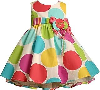 Large Dots Birthday Dress with Headband