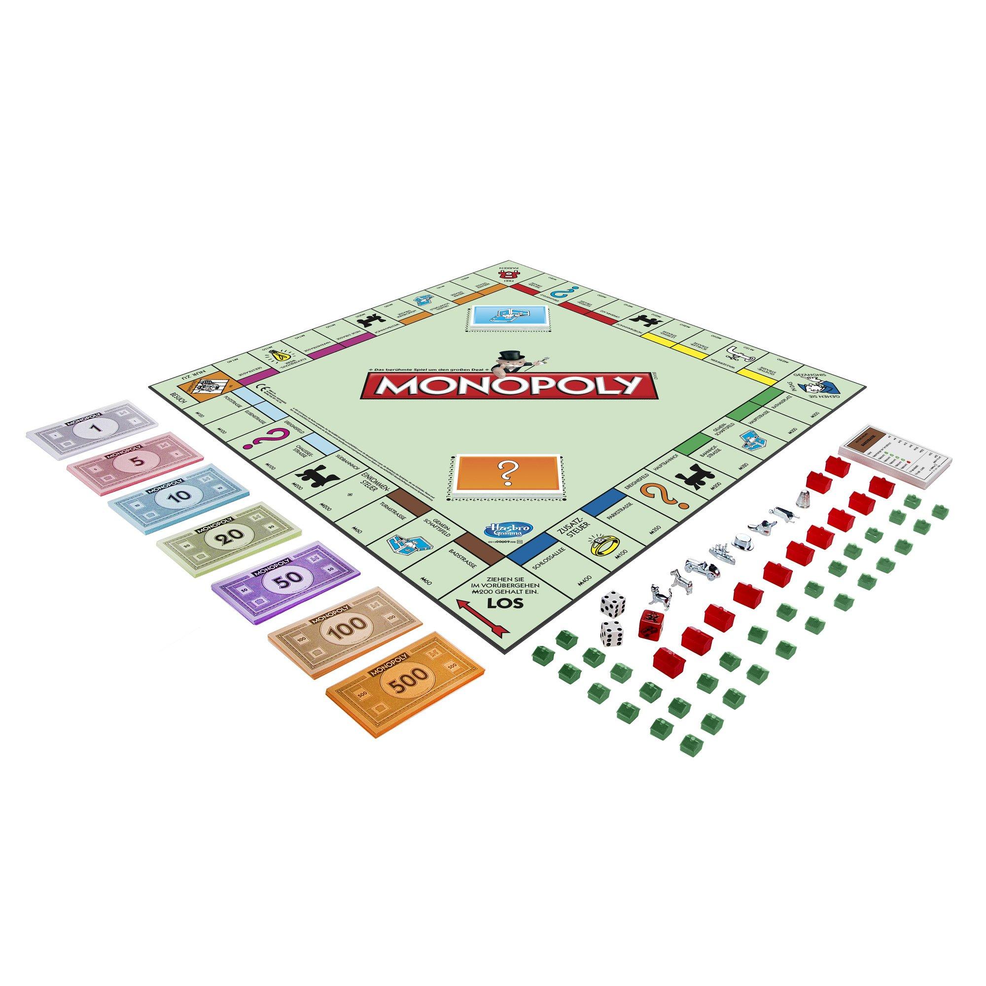 Hasbro Gaming - Monopoly clásico, Juego de Mesa (00009398)  (versión Alemana): Amazon.es: Juguetes y juegos
