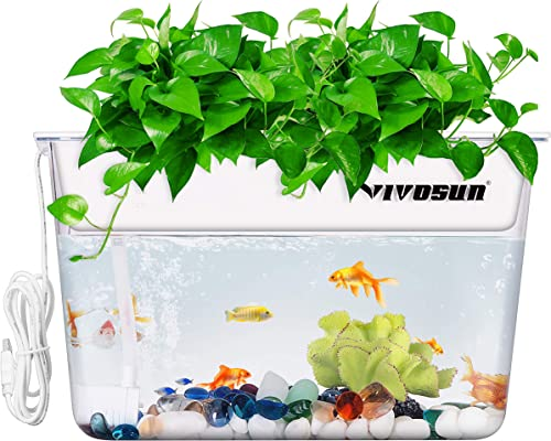 high quality VIVOSUN Aquaponic Fish Tank Hydroponic online Cleaning Tank Fish 2021 Feeds Plants and Plants Clean Tank sale