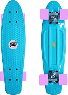 DINBIN Complete Highly Flexible Plastic Cruiser Board Mini 22 Inch Skateboards for..