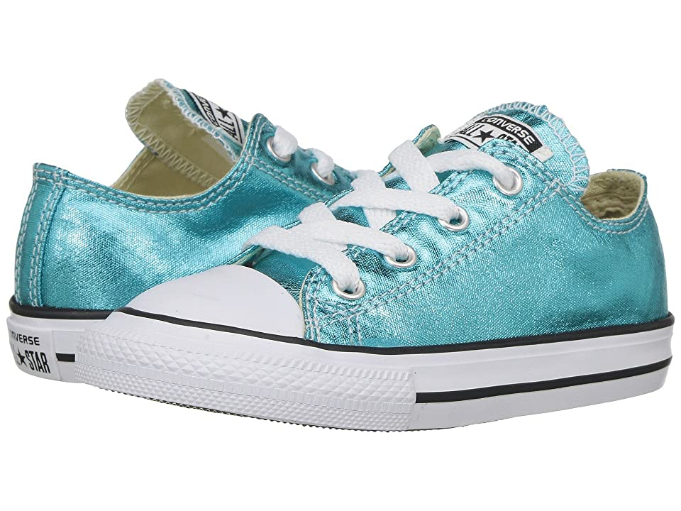 1c350894acc55e Converse Kids Chuck Taylor All Star Ox Metallic (Infant Toddler) (Fresh Cyan