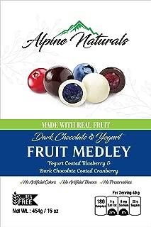 Alpine Naturals Fruit Medley Dark Chocolate Cranberries & Yogurt Blueberries, 16 Ounce