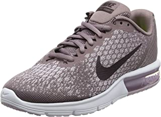 Nike Air Max Sequent 2 Size 8 Womens Running Taupe Grey/Port Wine-Plum Fog-Iced Lilac Shoes