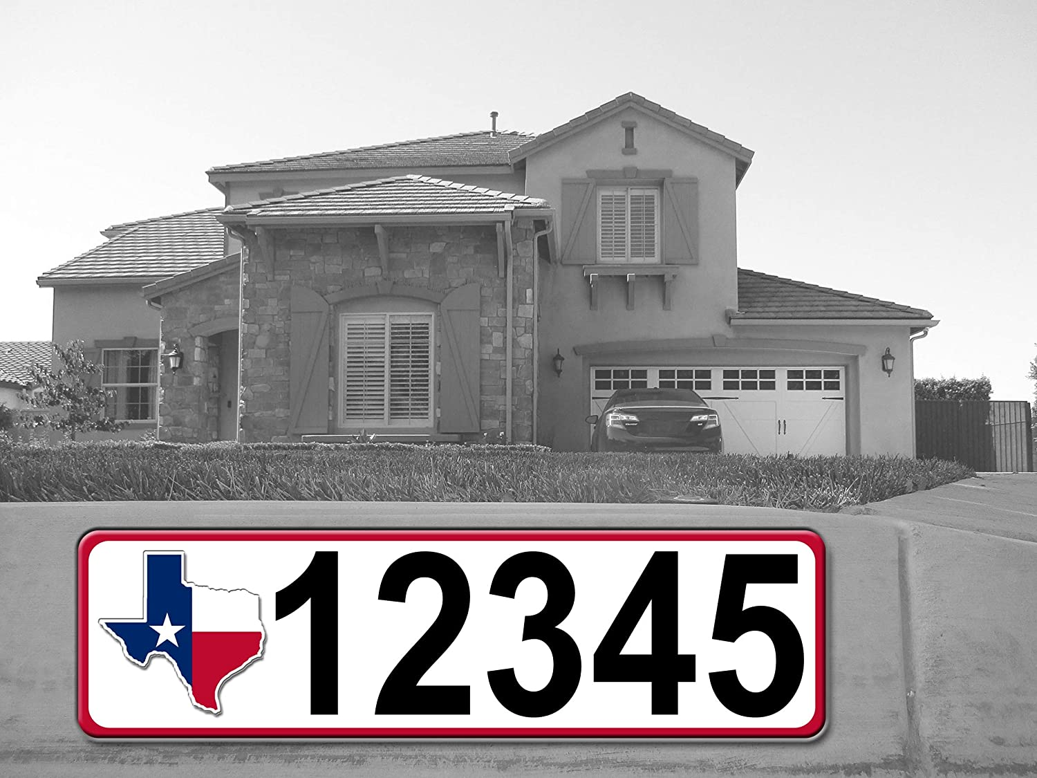 Curb-N-Sign Highly Max 56% OFF Reflective Address Regular dealer Double Easy Plaque Sided