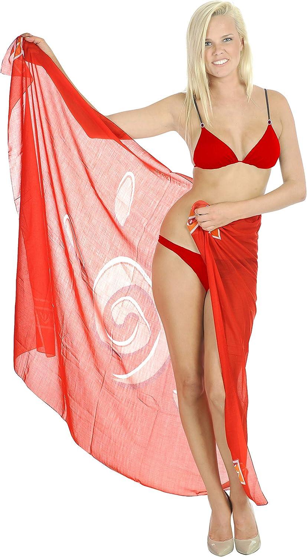 LA LEELA Louisville-Jefferson County Mall Women's Plus Size San Diego Mall Sarong Coverups Bikini Pareo Swimwear