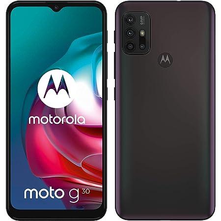 "Motorola moto g 30 (quad camera 64 MP, batteria 5000 mAH, 6/128 GB, Display 6.5"" Max Vision, NFC, Dual SIM, Android 11) cover inclusa, Nero (Dark Pearl)"