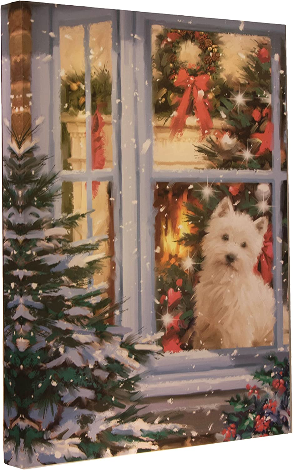 Puppy Canvas Wall Hanging We Year-end gift OFFer at cheap prices by LEDs Ho Bright Creations Clever