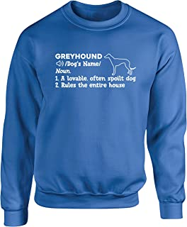 Hippowarehouse Personalised Greyhound Definition Unisex Jumper Sweatshirt Pullover (Specific Size Guide in Description)